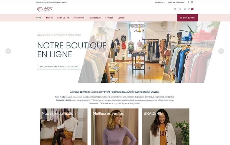 Création du site internet Aux Deux Comptoirs